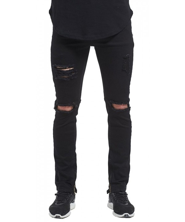 MrPick Zipper Skinny Stretch Destroyed