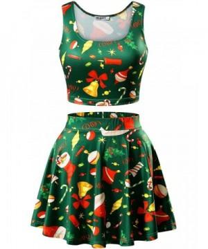 MSBASIC Flared Womens Christmas Skirts