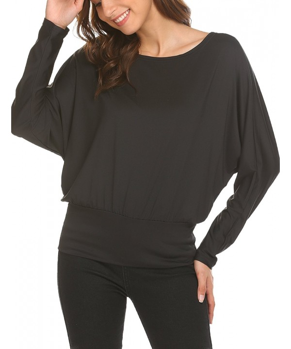 Women Casual Dolman Batwing Sleeve