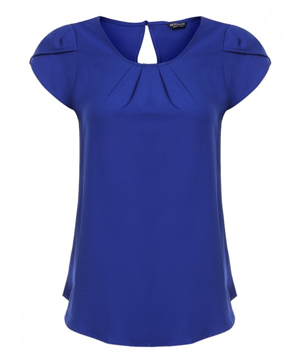 Hotouch Casual Sleeve Ruched Blouse