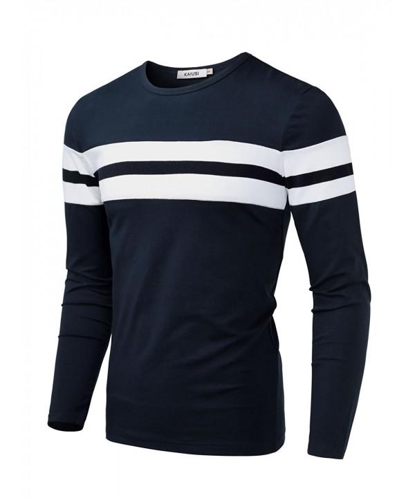 KAIUSI Sleeve Contrast T Shirt X Large