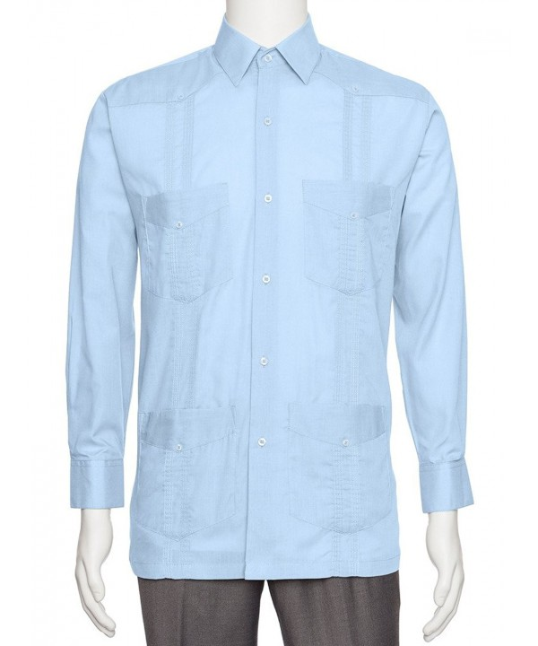 Gentlemens Collection Linen Guayabera Shirt