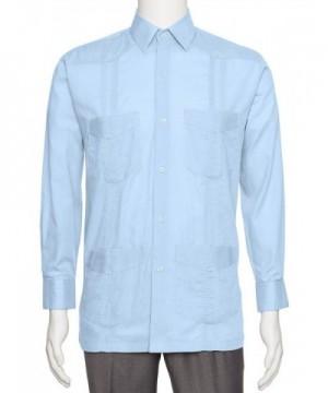 Gentlemens Collection Linen Guayabera Shirt