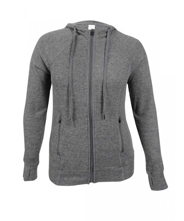 Ideology Womens Plus Heathered Hoodie