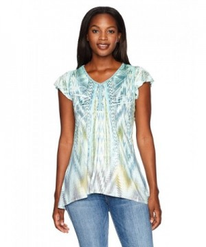 OneWorld Womens Flutter Microjersey Colorful