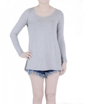 FAVELEM Womens Sleeve Shirts Grey903 4