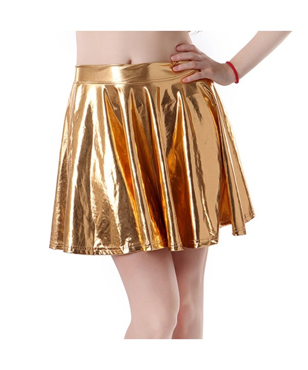 HDE Liquid Skater Metallic Pleated