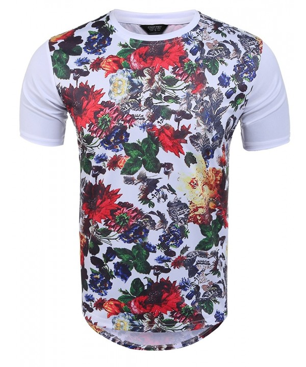 Coofandy Hipster Graphic Floral Prints