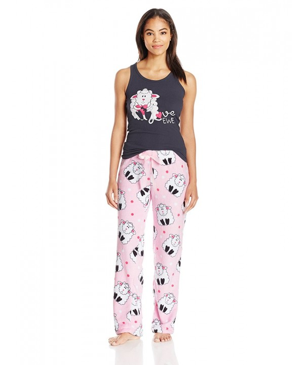 Sleep Co Womens Ribbed Pajama