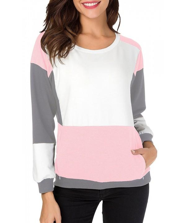 Oyanus Womens Casual Pullover Sweatshirt