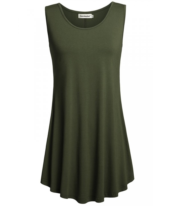 Nandashe Armygreen Leggings Stylish Sleeveless