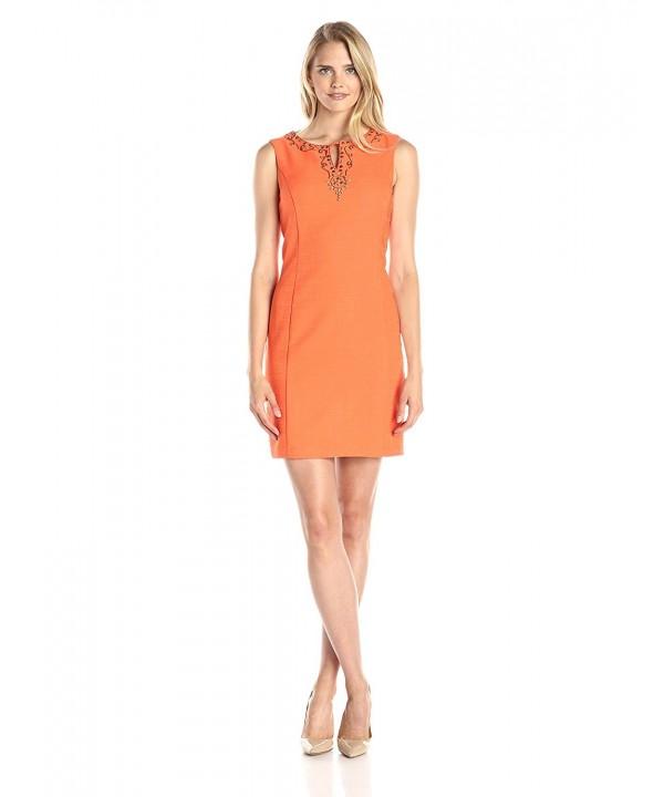 Sandra Darren Womens Sleeveless Embellishment