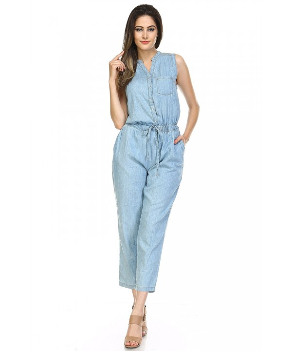 Boteley Fashion Belted Sleeveless Jumpsuit