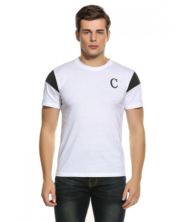 COOFANDY Crew Neck Printed T Shirt Baseball