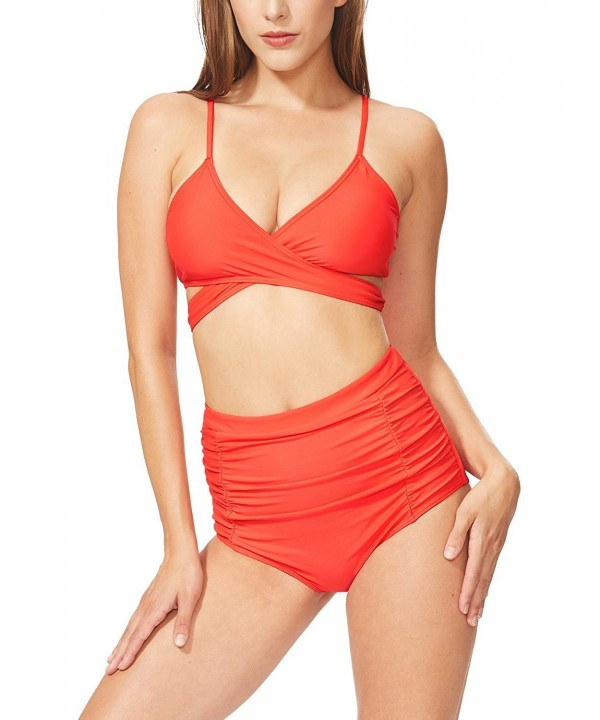 Betticoo Womens Crisscross Swimsuits Shirred