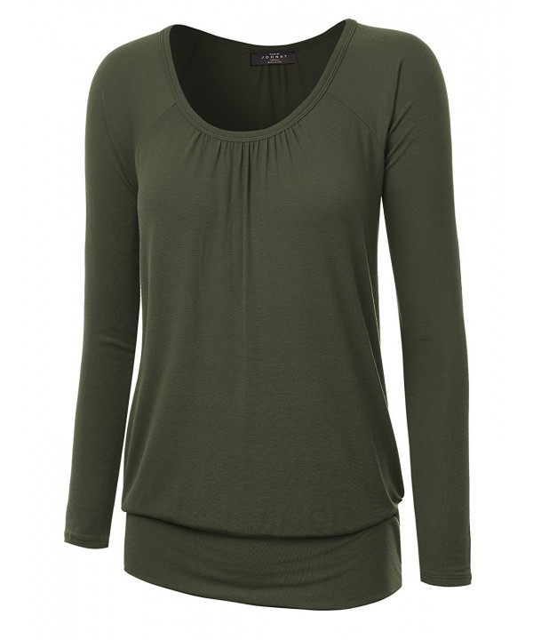WT1163 Womens Sleeve Shirring Raglan