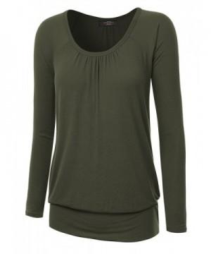 WT1163 Womens Sleeve Shirring Raglan