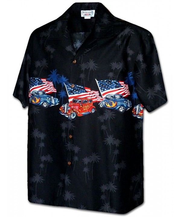 American Flag Hotrods Shirt 3942 BLACK 2XL