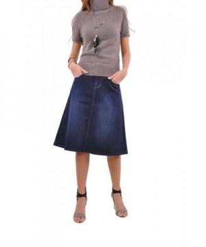 Style Simply Me Denim Skirt Blue 28