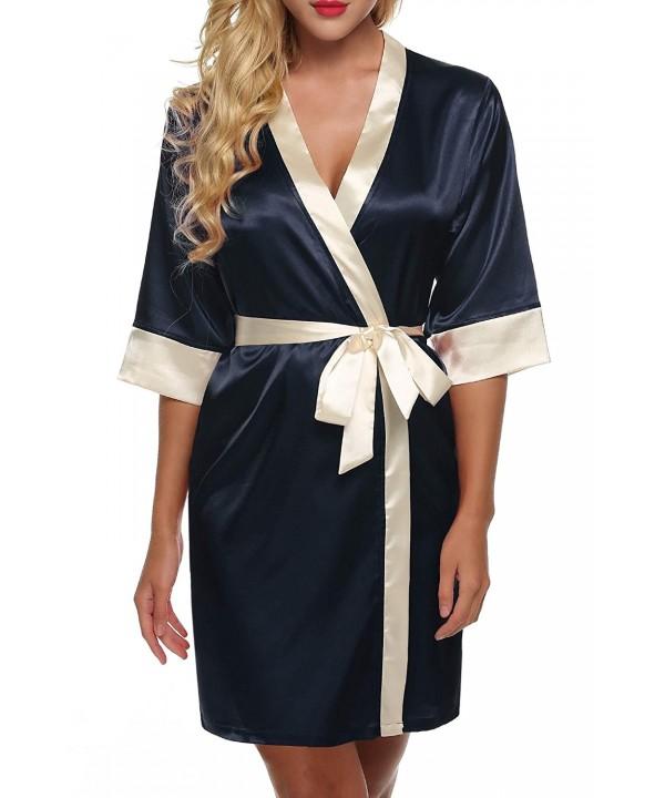 Flyerstoy Womens Kimono Bathrobe Sleepwear