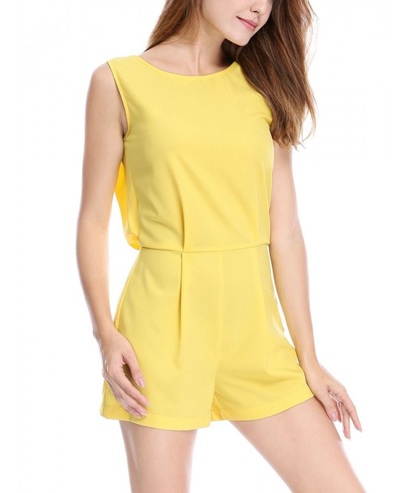 Allegra Womens Sleeveless Insert Romper