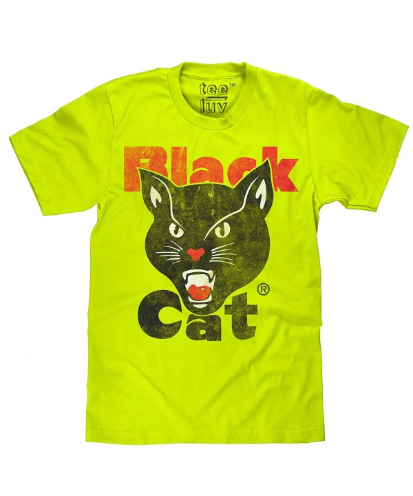 Black Cat Fireworks T Shirt Licensed