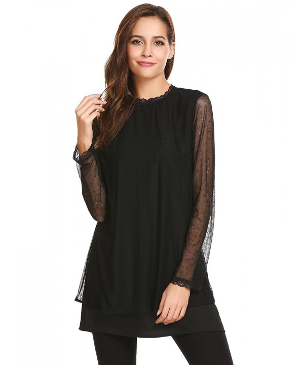Zeagoo Through Sleeve Layered Blouse