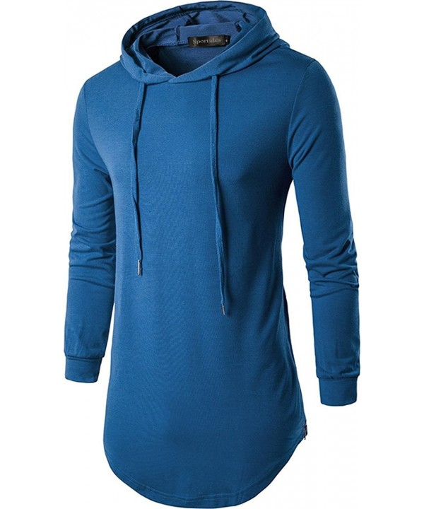 Sportides Fashion Longline T Shirt Hoodies