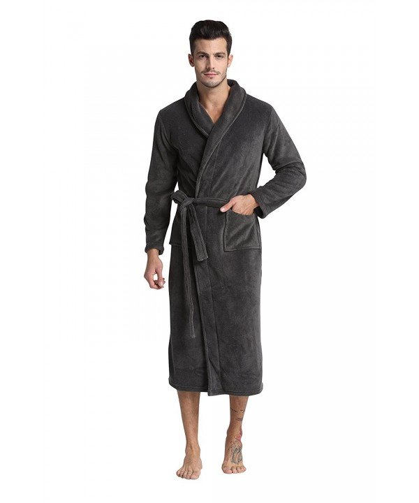 TONY CANDICE Fleece Bathrobe Collar