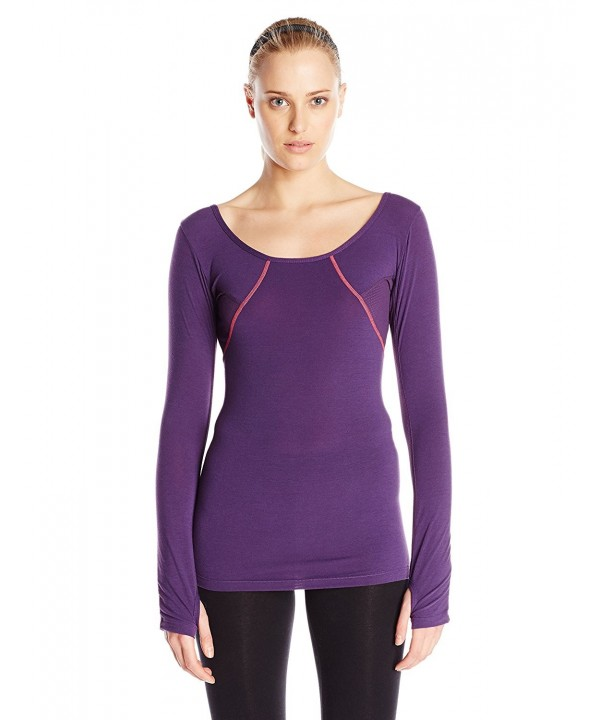 Glyder Womens Dancy Sleeve Eggplant