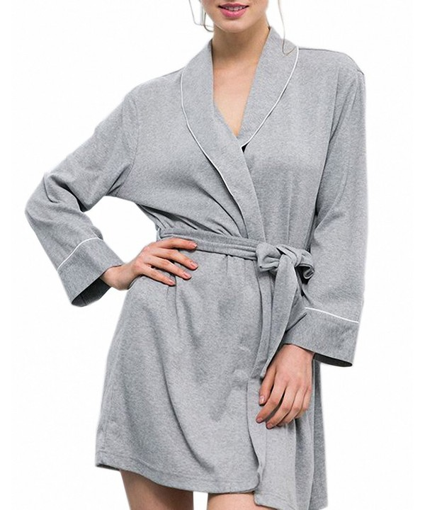 Afibi Womens Cotton Sleepwear Bathrobe