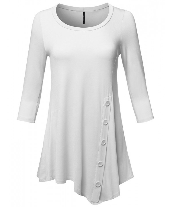 Casual Stretch Asymmetrical Sleeve Button
