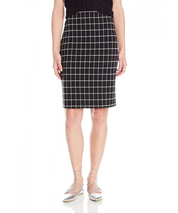 PARIS SUNDAY Womens Windowpane Pencil