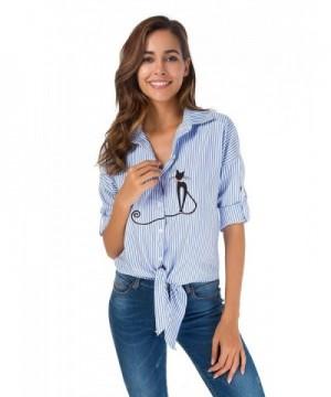 Womens Shirts Button Down T Shirt Blouse
