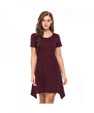 Kancystore Summer T Shirt Asymmetrical Dresses