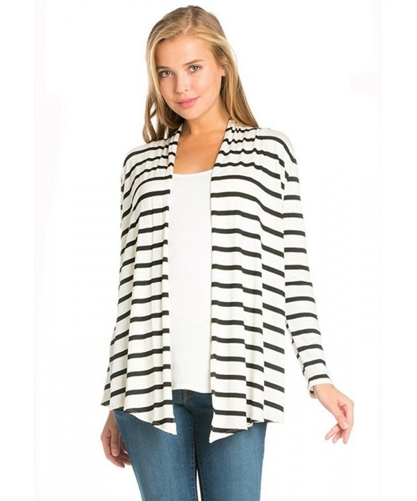 Azules Womens Sleeved Cardigan Stripes