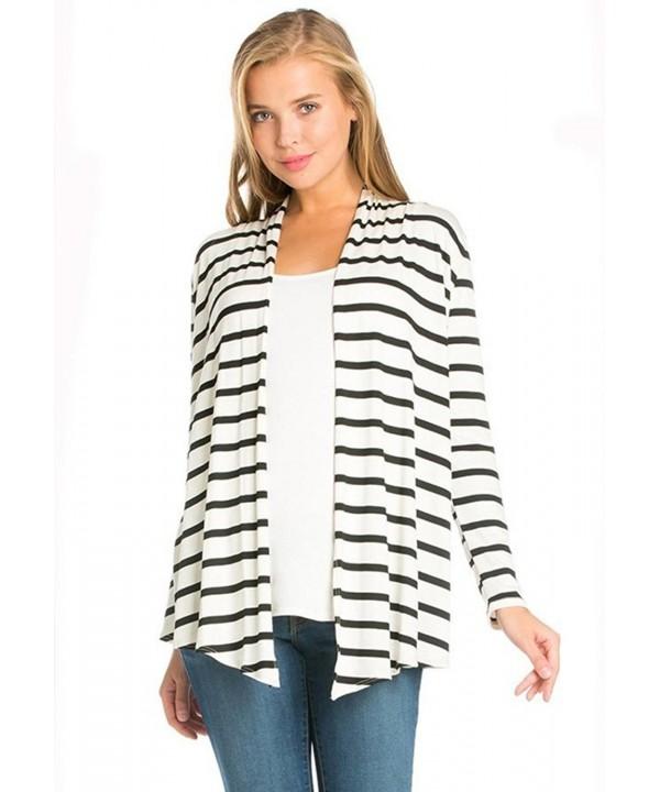 Azules Womens Sleeved Cardigan Stripes