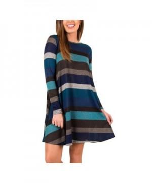 ASCHOEN Womens Casual Striped T Shirt