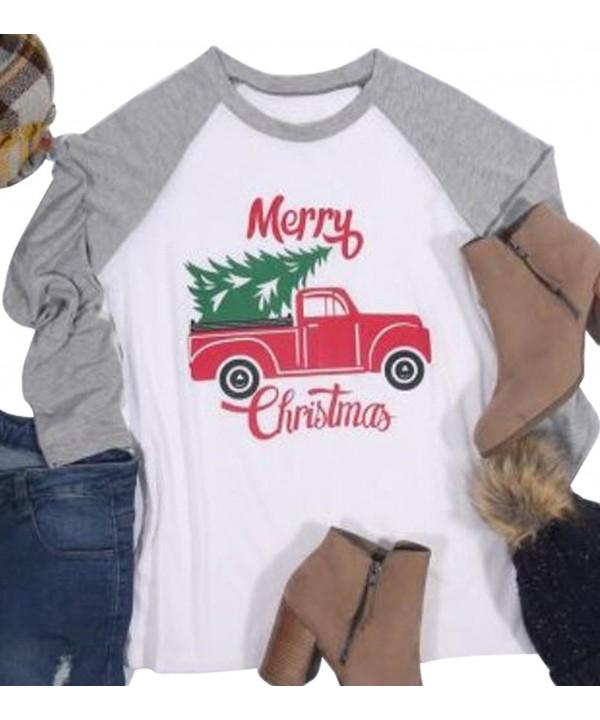 Womens Christmas Holiday Baseball T Shirt