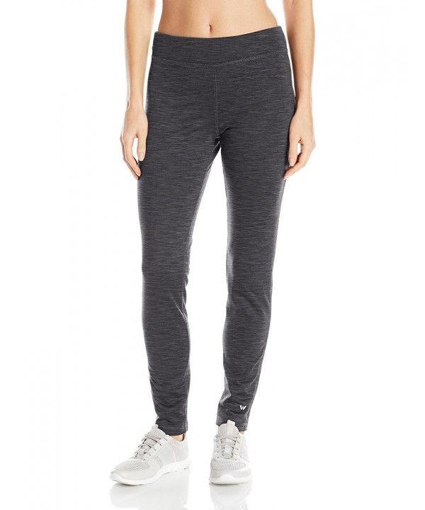 White Sierra Stretch Leggings Charcoal