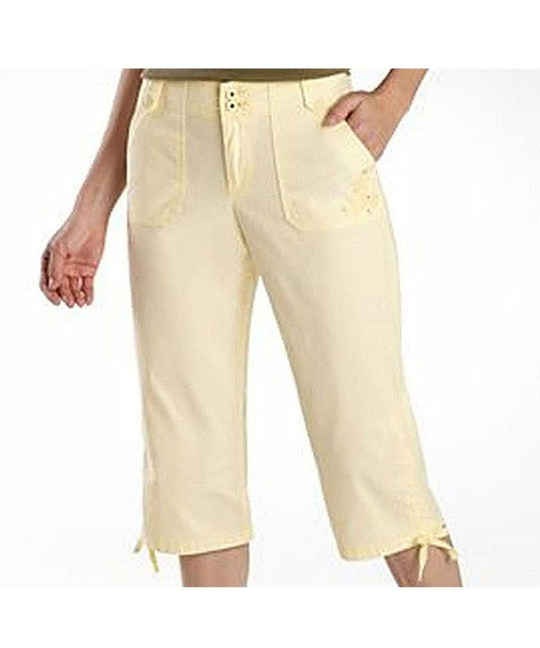 Gloria Vanderbilt Plus Capris Yellow