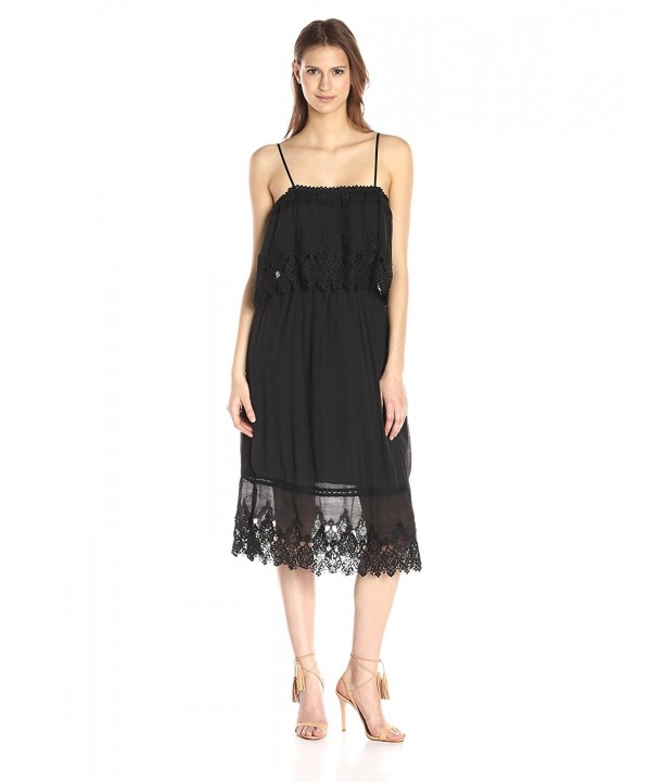 Moon River Womens Trimmed Dress