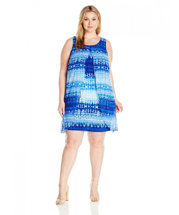 Notations Womens Overlay Printed Illusive