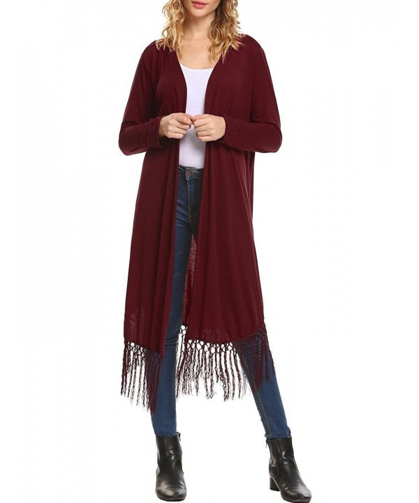 Mofavor Womens Lightweight Waterfall Cardigan