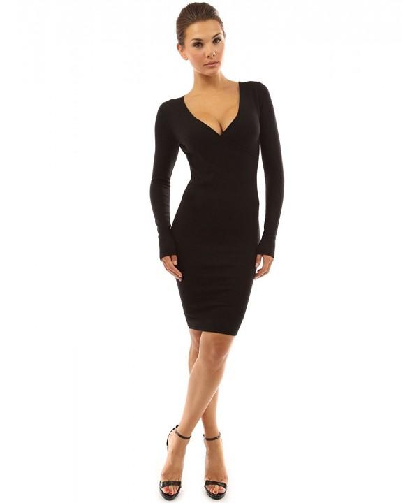 PattyBoutik Womens Sleeve Dress Black