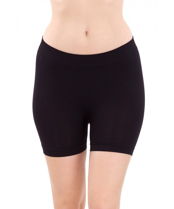 Ladies Seamless Black ShortsHot Pants