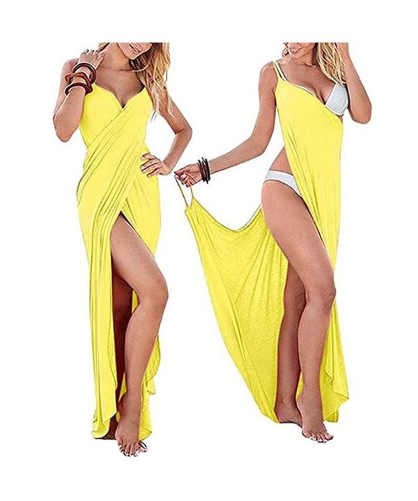 ZAY Women Spaghetti Bikini Yellow
