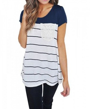 Hount Womens Casual Sleeve Striped
