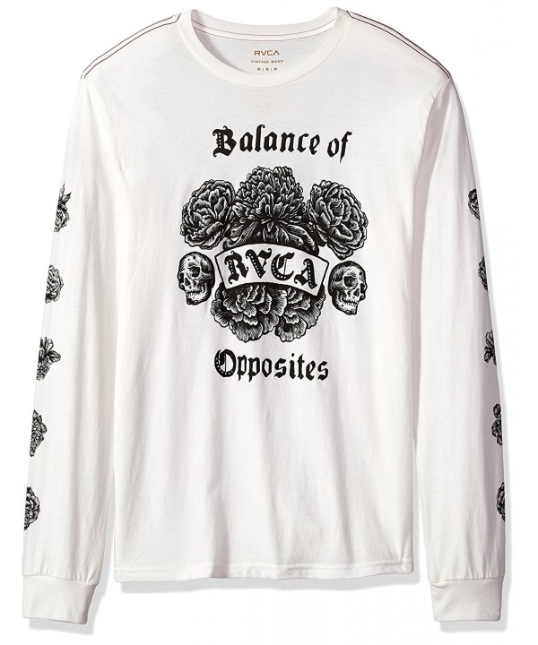 RVCA Mens Longsleeve Antique White