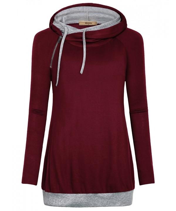 Miusey Lightweight Sweatshirt Drawstring Stylish